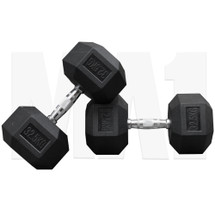 MA1 Rubber Hex Dumbbells - 32.5kg (MAP-DBRH-32.5x2)