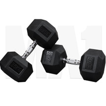 MA1 Rubber Hex Dumbbells - 35kg (MAP-DBRH-35x2)
