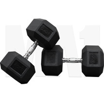 MA1 Rubber Hex Dumbbells - 40kg (MAP-DBRH-40x2)