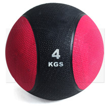 4kg Rubber Medicine Ball - red