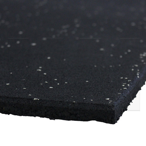 Rubber Gym Mat - Black with White Speck - Close Up