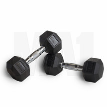 7.5kg Rubber Covered Hex Dumbbell