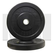 15kg Black Rubber Bumper Plate (Pair)