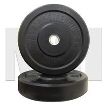 MA1 25kg Black Rubber Bumper Plate (Pair)