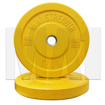 15kg Coloured Rubber Bumper Plate (pair) - Yellow