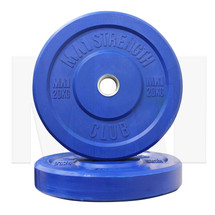 20kg Coloured Rubber Bumper Plate (pair) - Blue