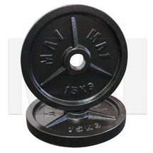 MA1 Olympic Cast Iron Plate (Pair) - 15kg