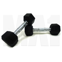 3kg Rubber Hex Dumbbell (Pair)