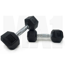 8kg Rubber Hex Dumbbell (Pair)
