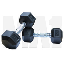 7kg Rubber Hex Dumbbell (Pair)