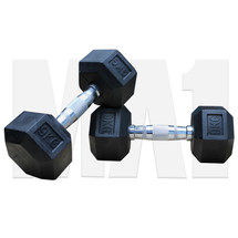 9kg Rubber Hex Dumbbell (Pair)