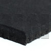 Plain Black Rubber Flooring Close Up