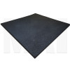 Plain Black Rubber Flooring Angle
