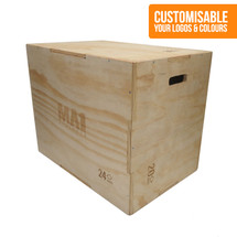 3 in 1 Wooden Plyometric Box - 20, 24 & 30 Inch - Custom