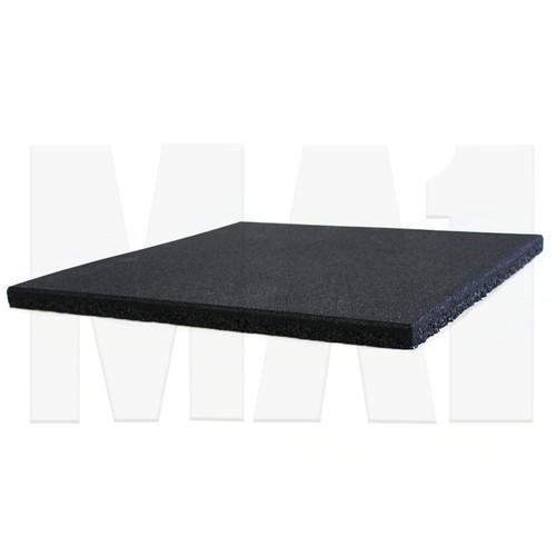 MA1 25mm Rubber Tile - 50cm x 50cm, Black