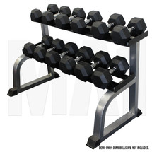 2 Tier Dumbbell Rack - Silver_full