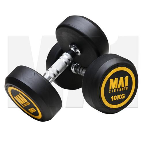 MA1 Commercial Rubber Dumbbells - 10kg