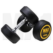 MA1 Commercial Rubber Dumbbells - 15kg