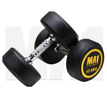MA1 Commercial Rubber Dumbbells - 17.5kg