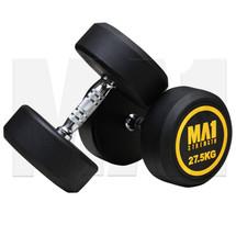 MA1 Commercial Rubber Dumbbells - 27.5kg