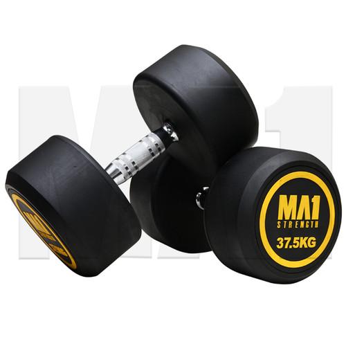 MA1 Commercial Rubber Dumbbells - 37.5kg