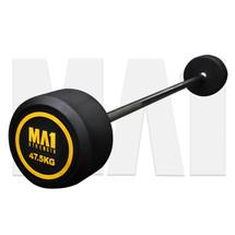 MA1 Fixed Rubber Barbell 47.5kg (MA-FRBB-47.5)