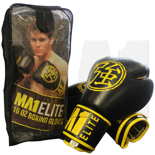 MA1 Elite Leather 16 Oz Boxing Gloves