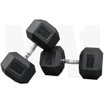 MA1 Rubber Hex Dumbbells - 52.5kg (Pair) (MAP-DBRH-52.5x2)