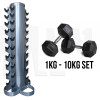 MA1 Rubber Hex 10 DB Package - 1-10kg with stand