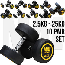 MA1 Commercial Rubber Round Head Dumbbell Package 2.5kg to 25kg