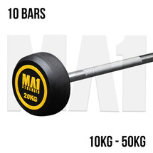 Premium Fixed Rubber Barbell Set