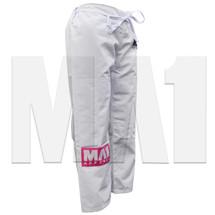 MA1 Female Rip Stop Kimono Pants - White - Angle