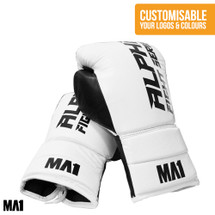 Alpha Fight Series White | MA1 Custom Lace Up Boxing Gloves