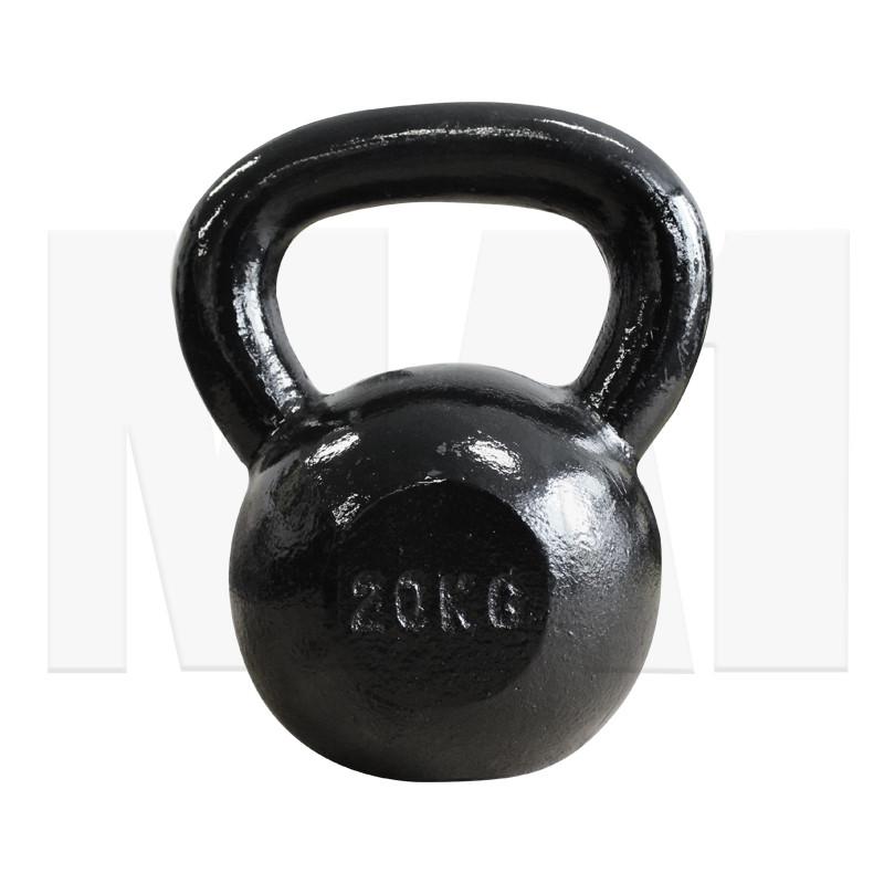 MA1 20kg Black Cast Iron Kettlebell