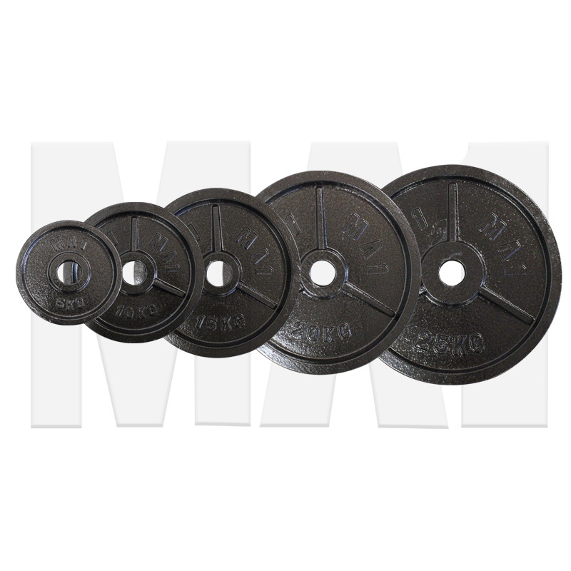 MA1 Olympic Cast Iron Plate Package 5kg to 25kg (Pairs)