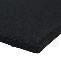 MA1 Premium Rubber Gym Mat - 1m x 1m x 15mm - Jet Black
