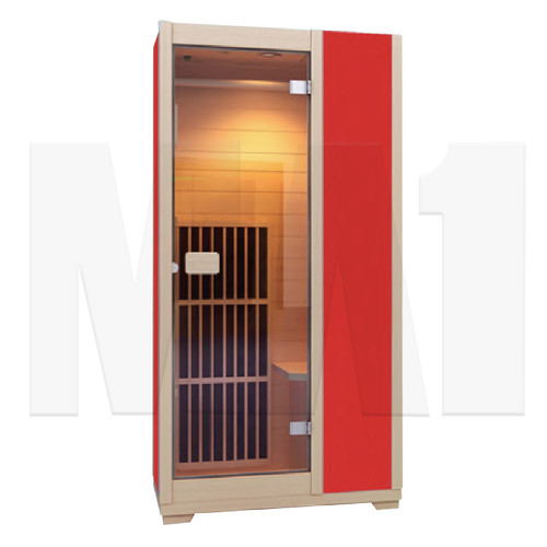 MA1 Infrared Sauna - 1 Man Capacity - Red