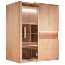 MA1 Infrared Sauna - 3 Man Capacity - Wooden - front