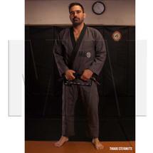 Thiago Stefanutti - MA1 Premium Comp Gi - Grey - AMMA