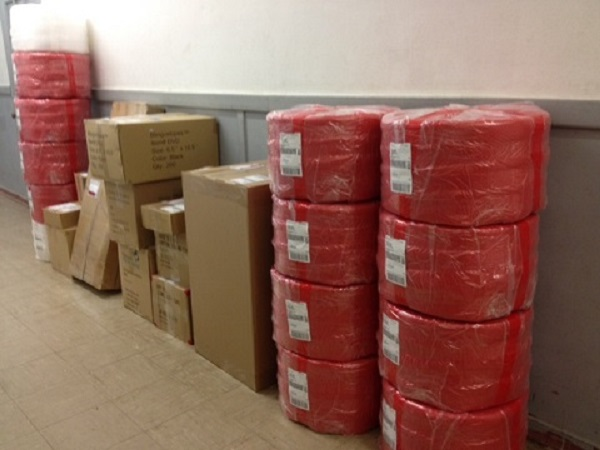Red Bubble Wrap Shipping to Customers to be used as Christmas Packaging