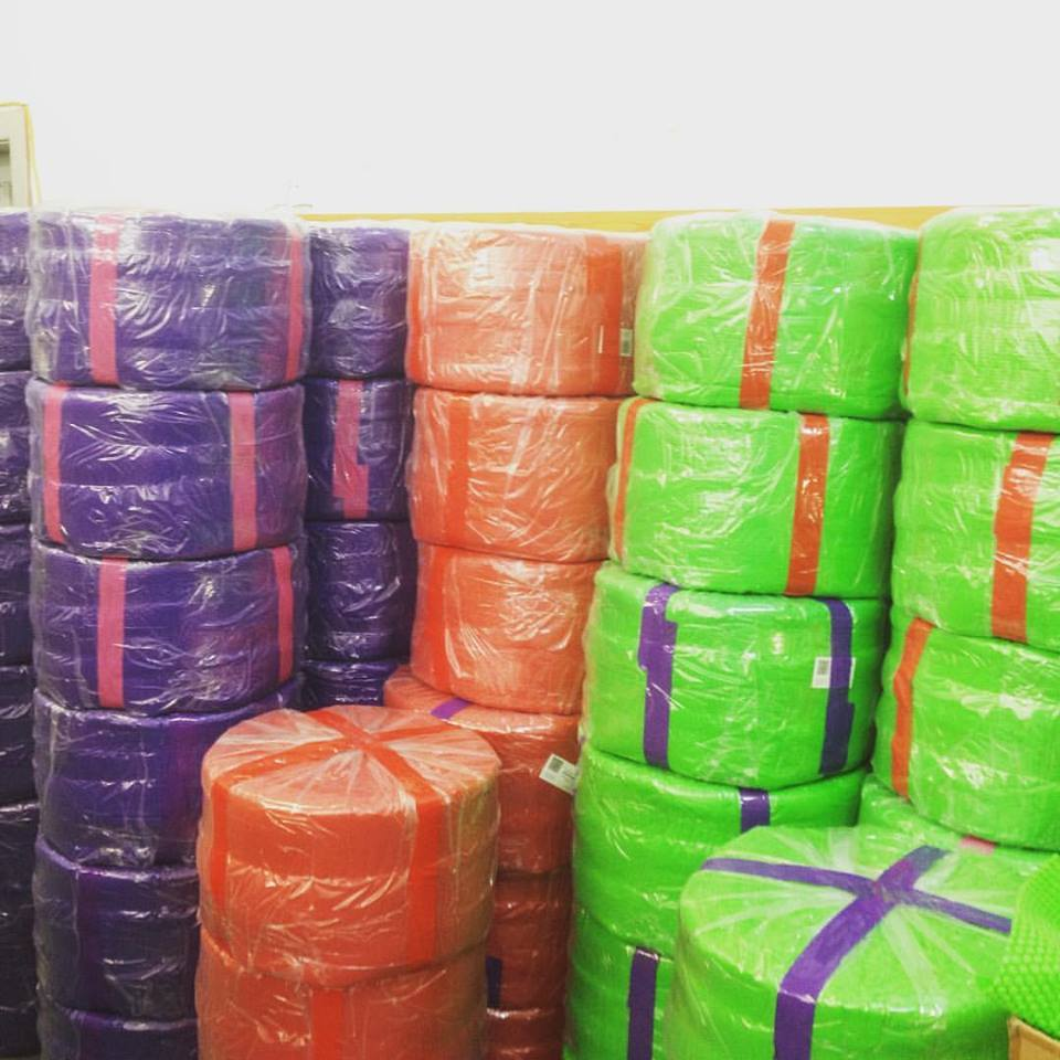 Blue, Green, Purple and Red Bubble Wrap Rolls