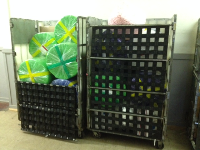 Green Blue and Purple Bubble Wrap Rolls Shipping to customers. #Branding #Marketing