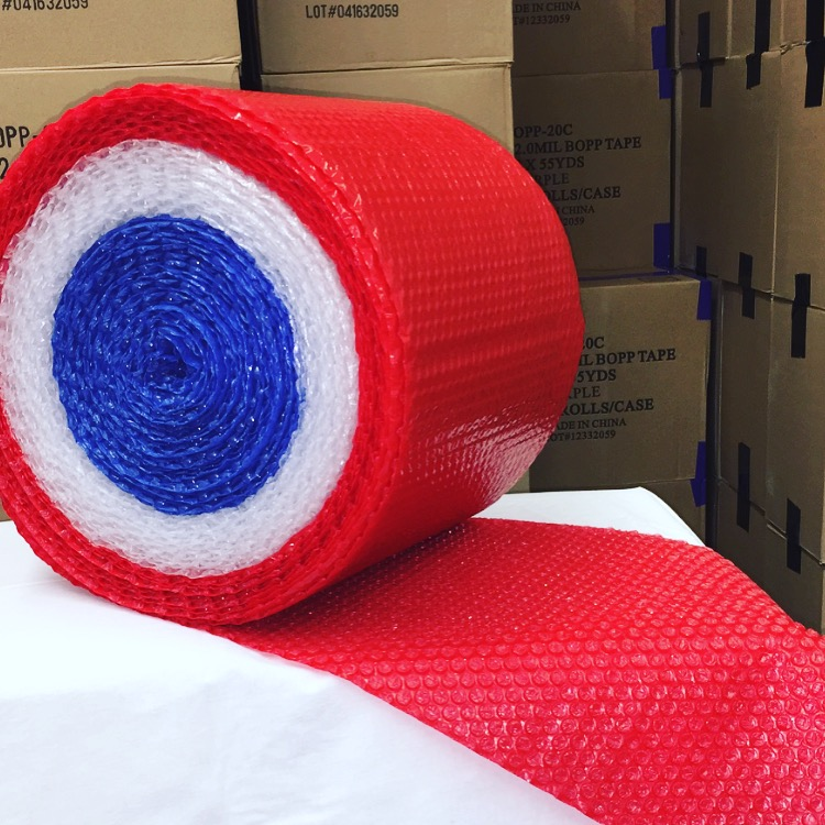 Red White and Blue Bubble Wrap Rolls