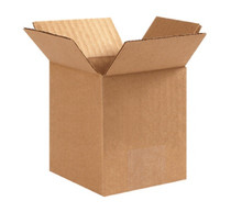 "4"" x 4"" x 6"" (200#/ECT-32) Kraft Corrugated Cardboard Shipping Boxes"