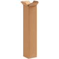 "4"" x 4"" x 20"" Tall Corrugated Cardboard Shipping Boxes 25/Bundle"