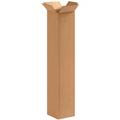 "4"" x 4"" x 20"" (200#/ECT-32) Tall Kraft Corrugated Cardboard Shipping Boxes"