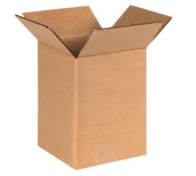 "5"" x 5"" x 8"" (200#/ECT-32) Kraft Corrugated Cardboard Shipping Boxes"