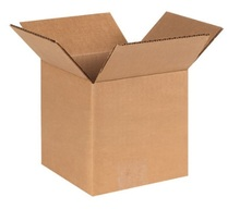 "6"" x 6"" x 6"" (200#/ECT-32) Kraft Corrugated Cardboard Shipping Boxes"