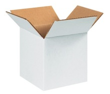 "6"" x 6"" x 6"" (200#/ECT-32) White Corrugated Cardboard Shipping Boxes"
