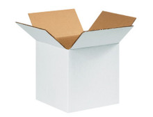 "8"" x 8"" x 8"" (200#/ECT-32) White Corrugated Cardboard Shipping Boxes"